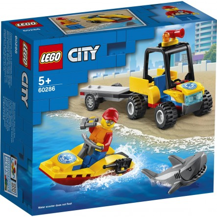 Lego  city great vehicles: beach rescue atv #60286